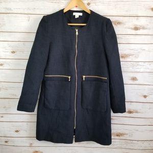 H&M | navy blue winter coat